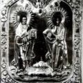 Apostoli Petar i Pavle XVIII v., tempera na dasci okovana pozlacnim limom, 30,5 X 26,3 X 2cm