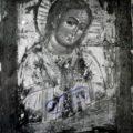 Bogorodica sa raspecem kraj XVII v, tempera na dasci, 30, 5 X 23 X 2,5 cm