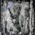 Grcki majstor - Bogorodica sa Hristom (Carica), lijeva strana diptiha u obliku knjige kraj XVII v., tempera na dasci, 9,6 X 7,3 X 1 cm