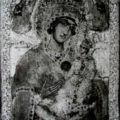 Grcki slikar - Bogorodica sa Hristom poc. XVIII v., tempera na dasci, 22,5 X 30,5 X 2,5 cm