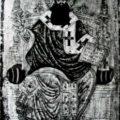 Grcki slikar - Sv. Sava srpski prva pol. XVIII v., tempera na dasci, 37 X 21 X 2 cm