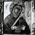 Italokritski majstor - Bogorodica sa Hristom (Mlekopitateljica) prva pol. XVI v., tempera na dasci, 24,5 X 21 X 1,5 cm