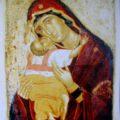 Kritski majstor - Bogorodica sa Hristom (Pelagonska) XVI v., tempera na dasci, 56 X 43 X 2 cm