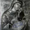 Kritski slikar - Bogorodica Umiljenija kraj XVI v., tempera na dasci, 48, 7 X 37, 2 X 1,6 cm