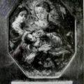 Nepoznati bokokotorski majstor - Madona s Hristom i sv. Barbarom XIX v., ulje na bakrenoj ploci, 9 X 12 cm
