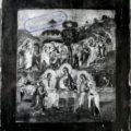 Ruski majstor - Gostoljublje Avramovo XVIII v., tempera na dasci, 31 X 27 X 2,2 cm