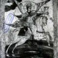 Ruski majstor (Povolozje) - Arhandjel Mihailo na konju pol. XVIII v., tempera na dasci, 39 X 32,5 X 2 cm