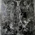 Ruski majstor - Raspece Hrista sa razbojnicima XVII v., tempera na dasci, 43,5 X 34 X cm