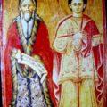 Simeon Lazovic - Sv. Ilija i Pantelejmon 1804. g., tempera na dasci, 64, 5 X 46 X 3 cm